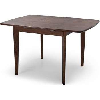 Monty Extending Dining Table, Dark Stain Ash (76.7 x 90-125cm)