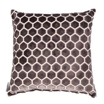 Monty Honeycomb Cushion in Dark Grey (45 x 45cm)