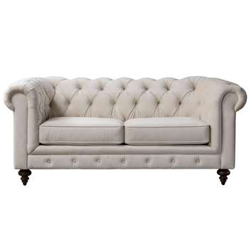 Monty Two Seat Sofa – Chalk (H80 x W185 x D99cm)