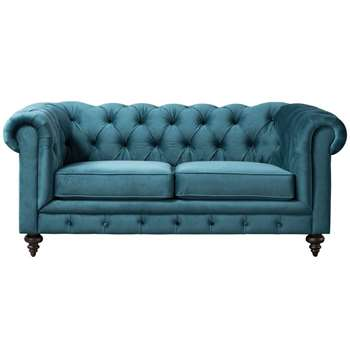Monty Two Seat Sofa – Peacock (H80 x W185 x D99cm)