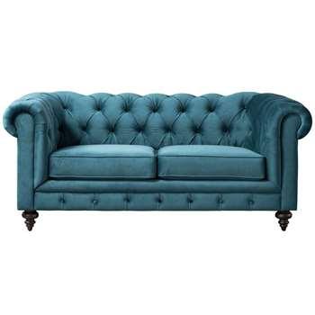 Monty Two Seat Sofa – Peacock (H80 x W185 x D99cm)