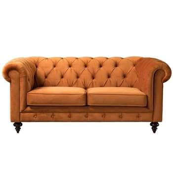 Monty Two Seat Sofa – Pumpkin (H80 x W185 x D99cm)