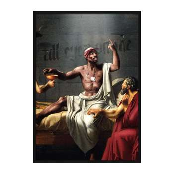 Mood - Tupac Painting Print - A3 (H42 x W29.7cm)