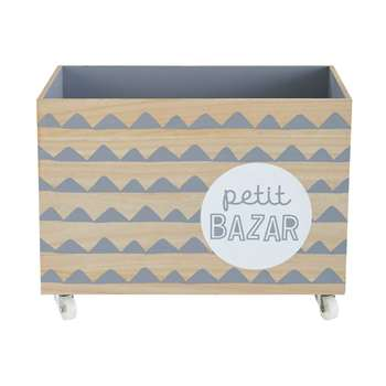 MOONLIGHT Printed Grey Toy Box (37 x 50cm)