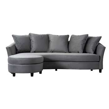 Morgan Three Seat Corner Sofa - Dove Grey (H74 x W231 x D100cm)