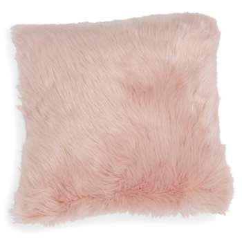 MORGANE pink faux fur cushion cover (40 x 40cm)