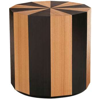 Moritz Side Table, Natural and Dark Stain Ash (55 x 55cm)