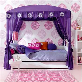 Morocco Chic Luxury Girls 4 Poster Cabin Bed 181 x 207cm
