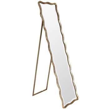 Moroni Full Length Mirror - Antique Silver (152 x 37cm)