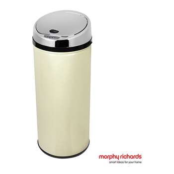 Morphy Richards 42 Litre Round Sensor Bin - Cream 77 x 30cm