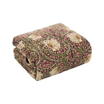 Morris & Co - Pimpernel Quilted Throw (260 x 265cm)