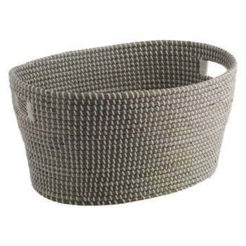 Morris Grey woven laundry basket with handles