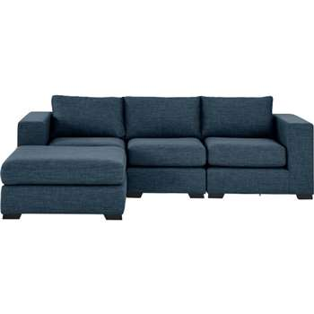 Mortimer 4 Seater Modular Corner Sofa, Harbour Blue (84 x 258cm)