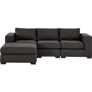 Mortimer 4 Seater Modular Corner Sofa, Seal Grey (84 x 258cm)
