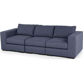 Mortimer 4 Seater Modular Sofa, Shadow Indigo (84 x 258cm)