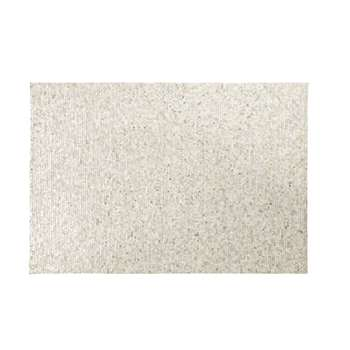 MOSAIQUE Silver Cowskin Rug with Graphic Print (H140 x W200 x D2cm)