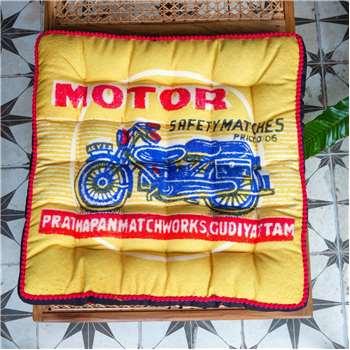 Motorbike Matchbox Seat Pad (H40 x W40 x D5cm)