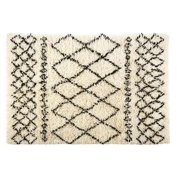 MOUNIA Grey Cotton and Wool Berber Rug (160 x 230cm)