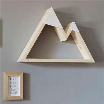 Mountain Geometric Shelf - White (34.6 x 50cm)