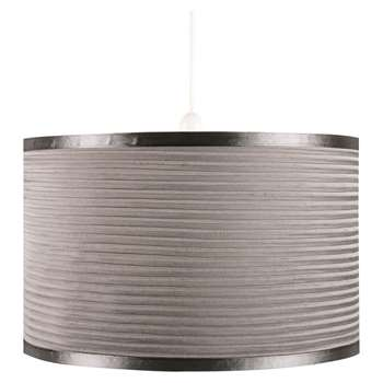 Mozzano Pendant Light Shade Silver Large (H23 x W35.5 x D35.5cm)