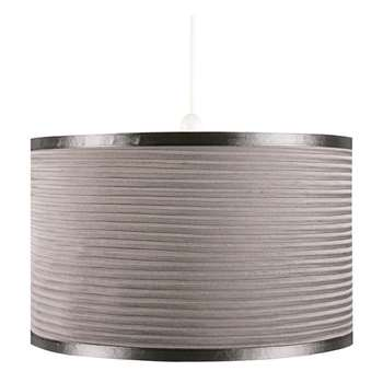 Mozzano Pendant Light Shade Silver Medium (H20 x W25.5 x D25.5cm)