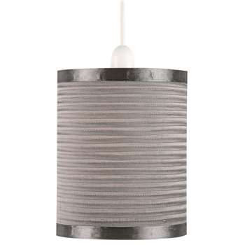 Mozzano Pendant Light Shade Silver Small (H20 x W16.5 x D16.5cm)