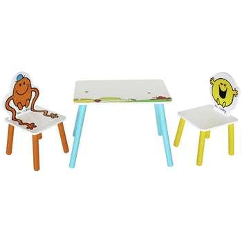 Mr Men Table & 2 Chairs (H50 x W28 x D26cm)