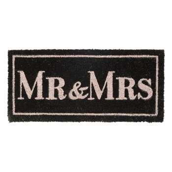 Mr & Mrs Coir Doormat (H25 x W55 x D2cm)