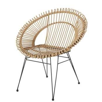 MUCHACHO Resin Faux Rattan Garden Armchair (H85 x W80 x D70cm)