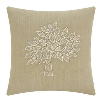 Mulberry Home - Crafted Mulberry Tree Cushion - Ivory/Sand (50 x 50cm)