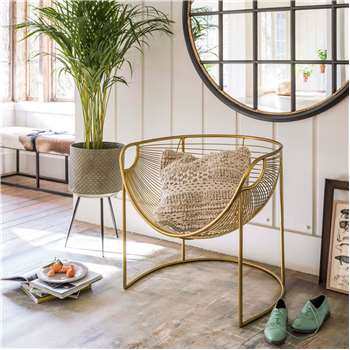 Mulberry Gold Leaf Lounger (H70 x W75 x D64cm)