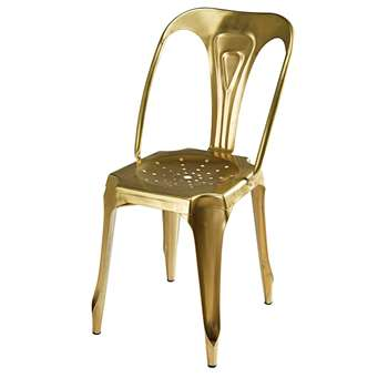 MULTIPL'S Industrial gold metal chair (84 x 58cm)