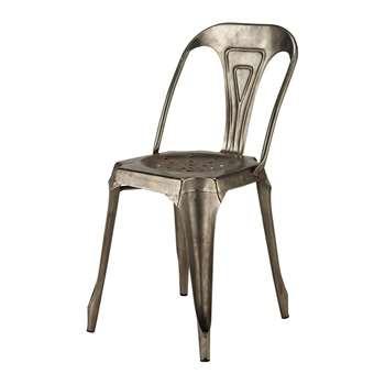 MULTIPL'S Metal industrial chair in grey (84 x 41cm)