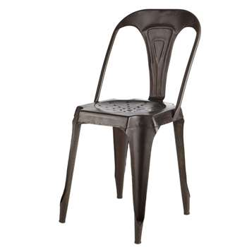 MULTIPL'S Antiqued metal industrial chair (84 x 41c)