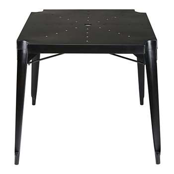 MULTIPL'S Industrial antique black metal dining table (77 x 80cm)