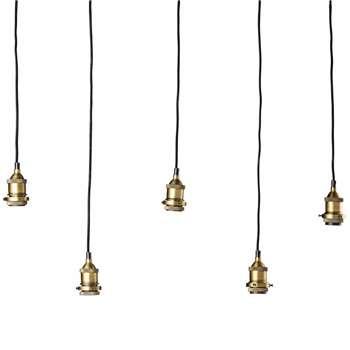 MURPHY Bronze And Metal 5 Bulb Pendant L 103 In Black (78 x 103cm)