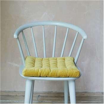 Mustard Velvet Seat Pad (H40 x W40cm)