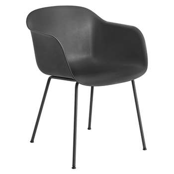 Muuto - Fiber Armchair - Tube Base - Black (76 x 54.5cm)