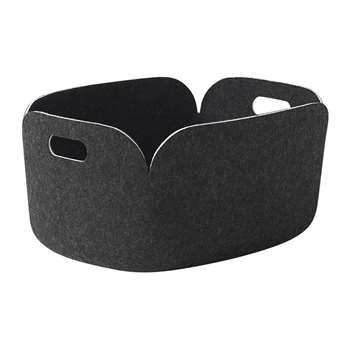 Muuto - Restore Basket - Black Melange (H23 x W48 x D35cm)