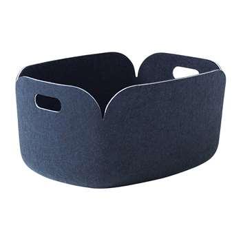 Muuto - Restore Basket - Midnight Blue (H23 x W48 x D35cm)
