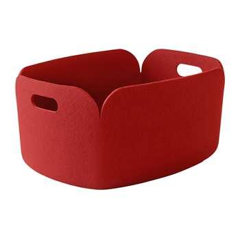 Muuto - Restore Basket - Red (H23 x W48 x D35cm)