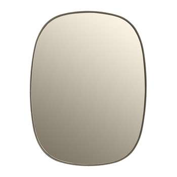 Muuto - Small Framed Mirror - Taupe (59 x 44cm)