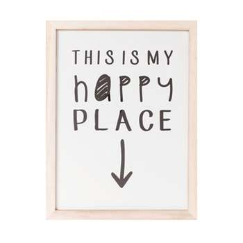 My happy place wall art (50 x 38cm)