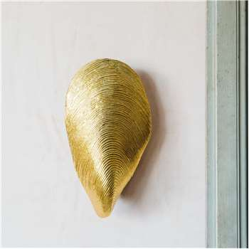 Mytilus Gold Wall Light (H33 x W11.5 x D25.5cm)