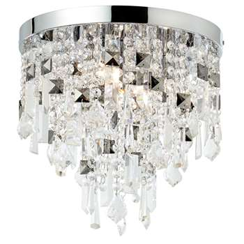 Nadine 4 Light Semi Flush Ceiling Light Polished Chrome (H30 x W32 x D32cm)