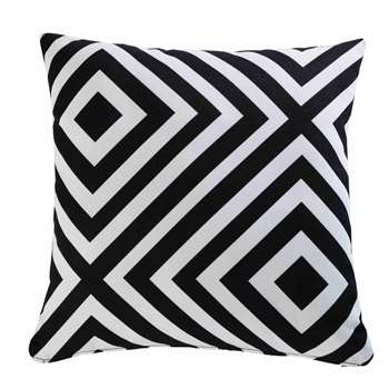 NAHIRA garden cushion with black and white geometric motifs 45 x 45 cm