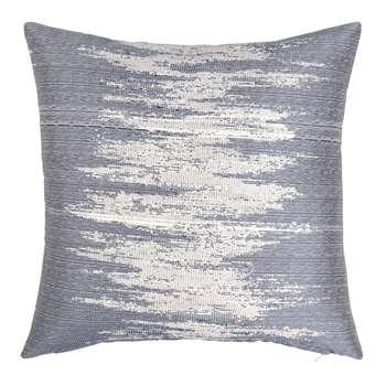 NANCY - Grey and Ecru Cotton Cushion Cover (H40 x W40cm)