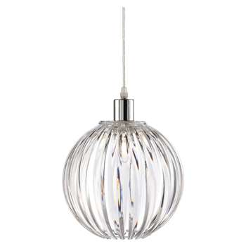 Nantes Pendant Light Shade Clear (H24 x W24 x D24cm)