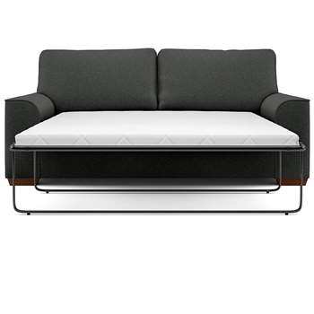 Nantucket Large Sofa Bed, Nola - Aquaclean, Charcoal (Sprung) (H132 x W180cm)