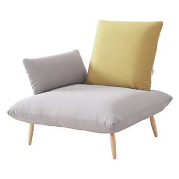 Naoko Grey and Yellow Armchair